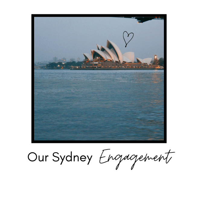 Our Sydney Engagement - Travel Blog