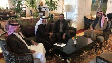 Photo of رئيس اللجنة المشرفة على مشروع ملعب السعودية يصل الى بغداد