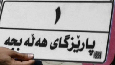 Photo of سعر خيالي لأول لوحة سيارات بإسم حلبجة