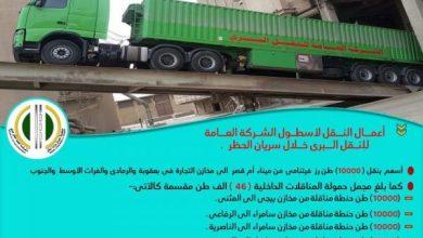 Photo of خلال سريان الحظر..   إسطول النقل البري يحقق نقل (46)الف طن من الرز والحنطة المحليين