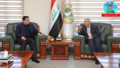 Photo of مستشار الأمن القومي السيد قاسم الأعرجي يلتقي رئيس مؤسسة الشهداء السيد كاظم عويد