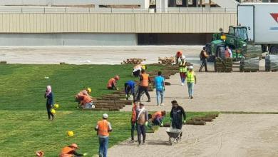 Photo of المباشرة بأعمال زراعة الثيل الطبيعي لأرضية ملعب كركوك الأولمبي