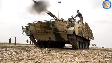 Photo of المدرعات القتالية BMP-3 التابعة للجيش العراقي خلال تدريبات بالذخيرة الحية
