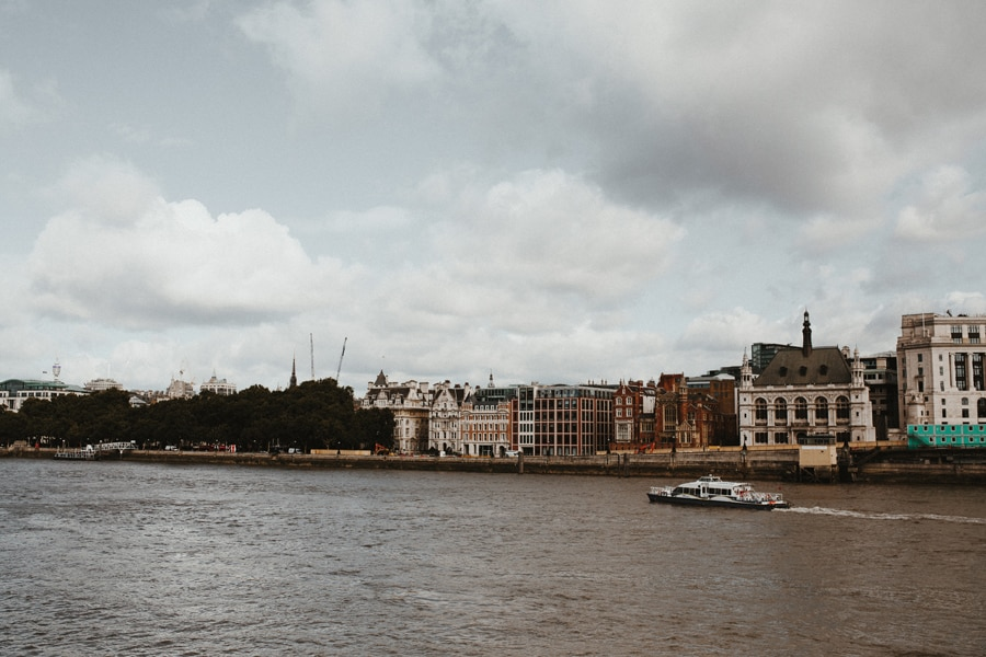 london wedding along the river thames