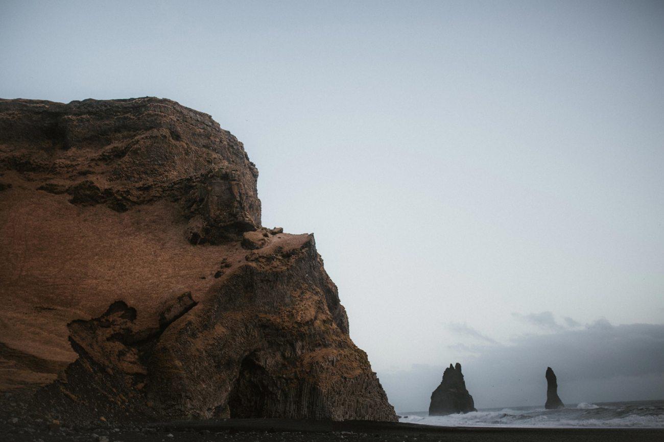 Vik, Iceland. Blacksand beach