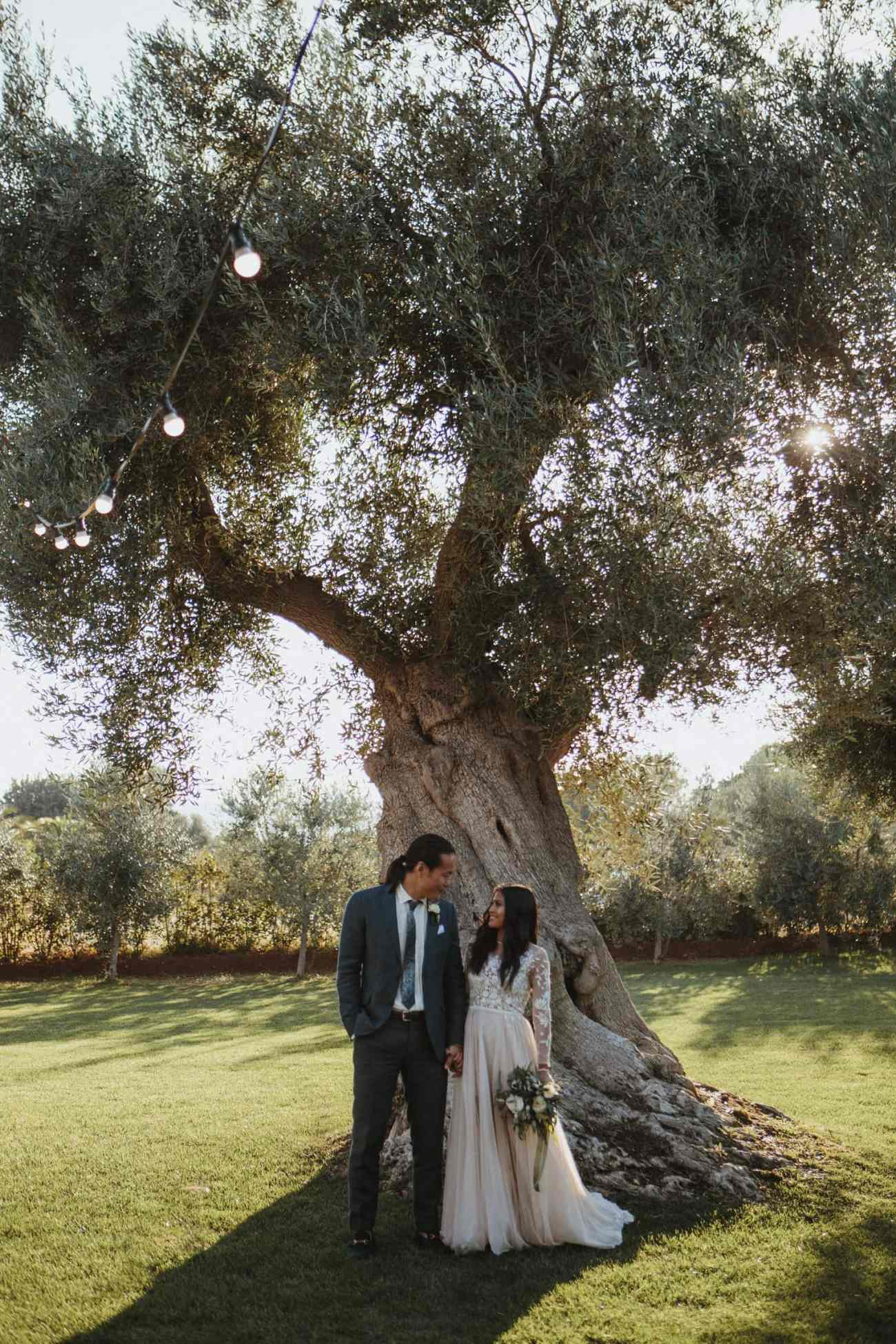Beautiful couple at masseria torre coccaro for italy destination wedding