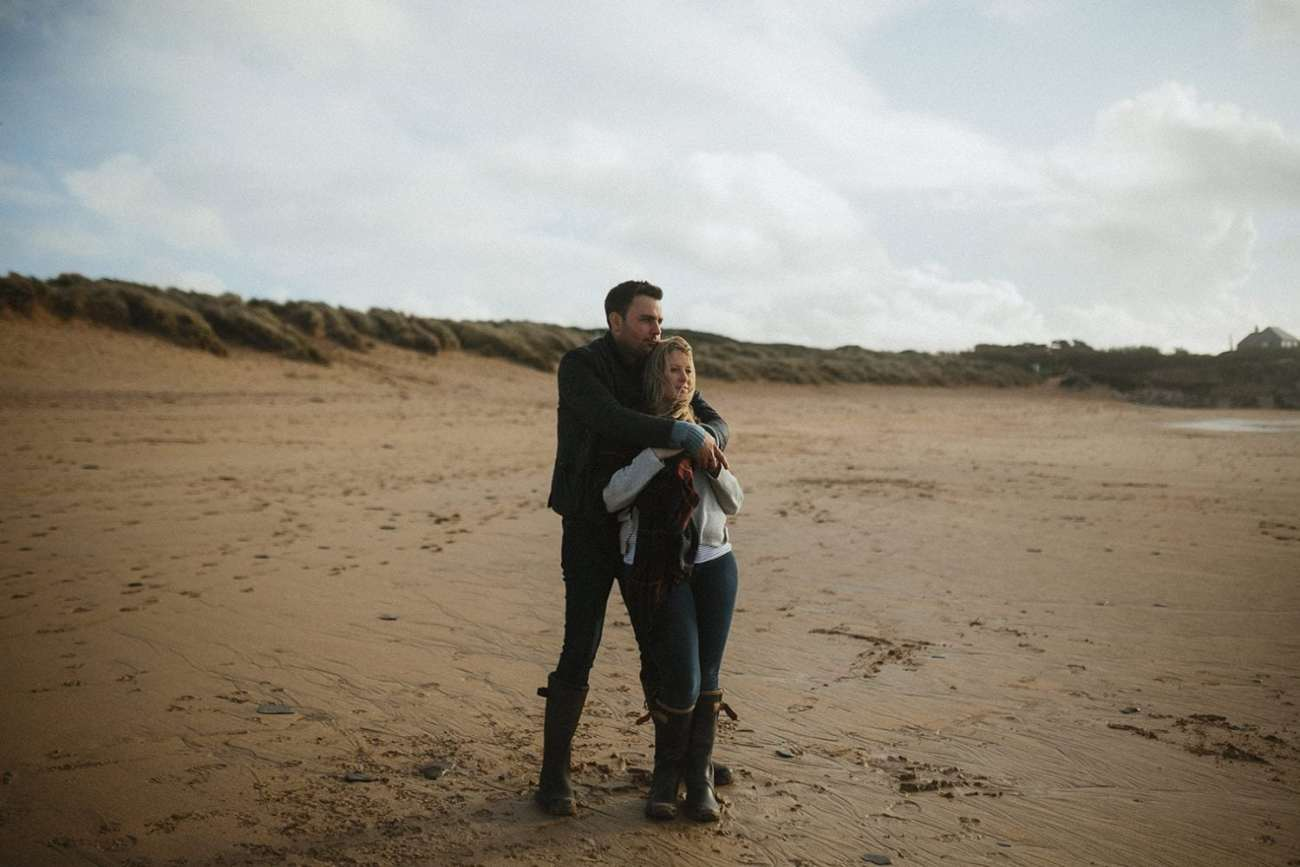 Cornwall Beach Engagement photographer