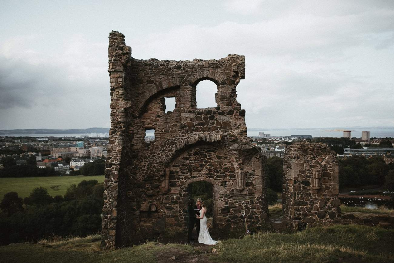 Edinburgh Elopement at St. Anthony's Chapel in Holyrood Park