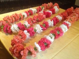 Floral ceremony garlands