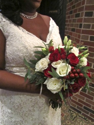Red and White Garden Inspired Bouquet
