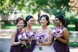 Purple Bridal Party Bouquets