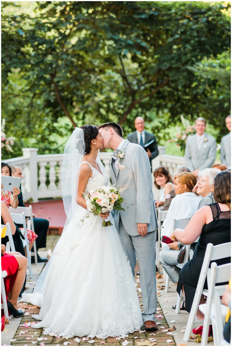 just married elkridge furnace inn maryland wedding photographer
