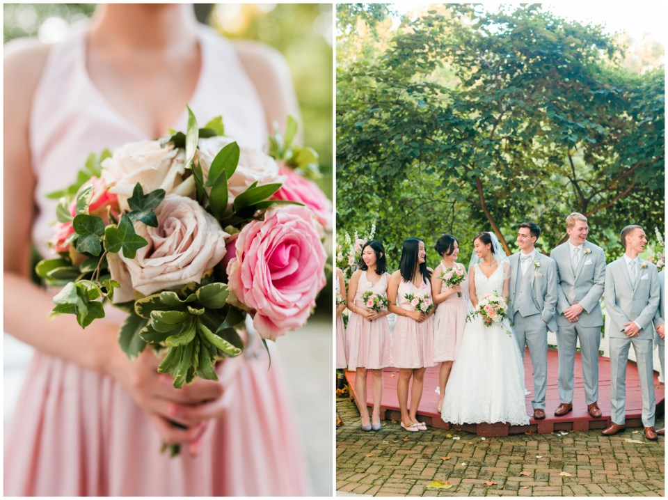pink gold tent maryland wedding photographer
