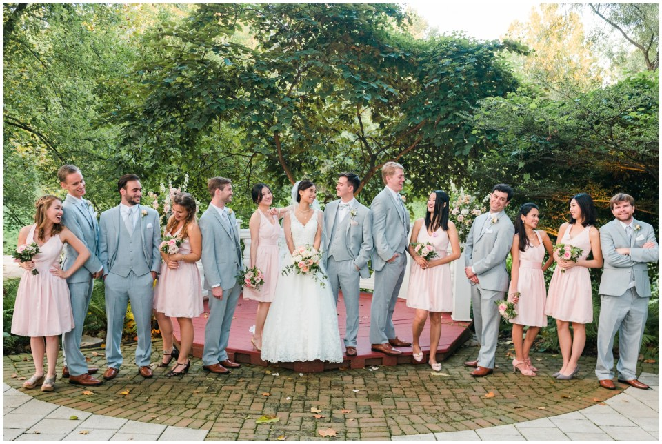 bridal party laughter maryland wedding photographer