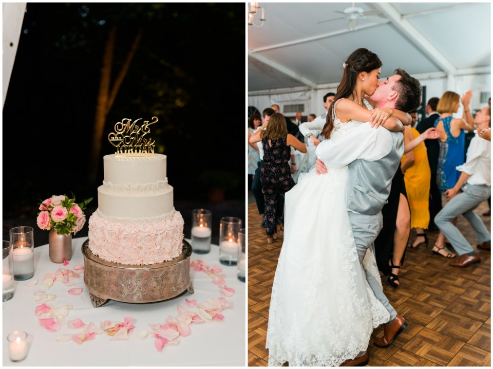 elkridge furnace inn cake dancing reception maryland wedding photographer