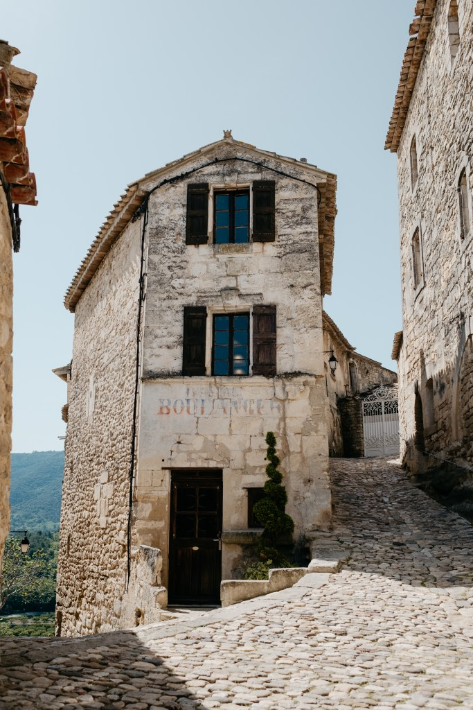 Ancient little towns dot the hilltops surrounding Provence in France.