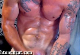 Oiled up my shredded body