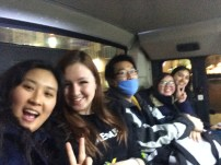 On the bus to the Han River
