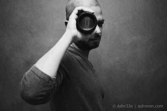 Self Portrait: Ashveen, with Nikon 105 1.8 Ai-S lens