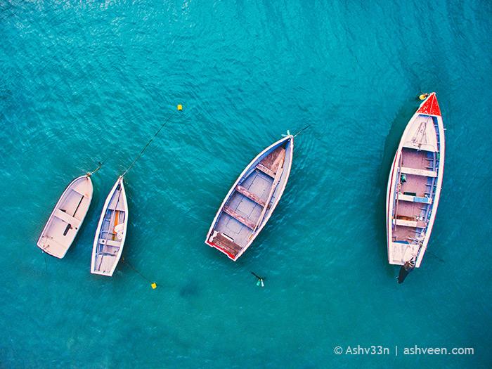 Drone Mauritius - Les Salines Fishermen Boats