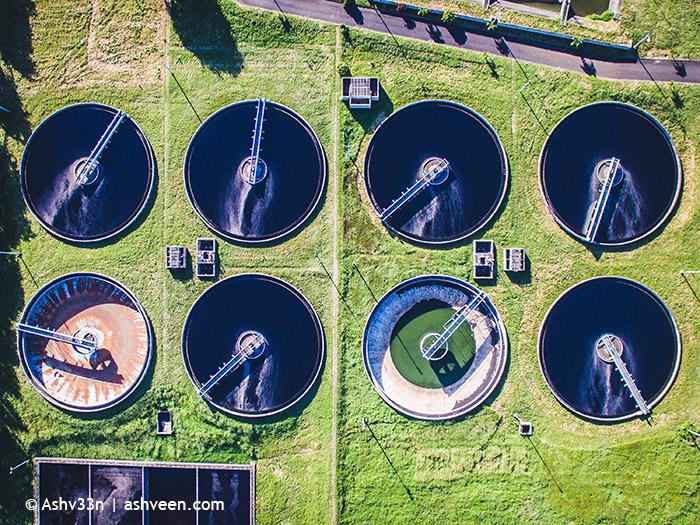 Drone Mauritius - Sewage Treatment Plant La Chaumiere
