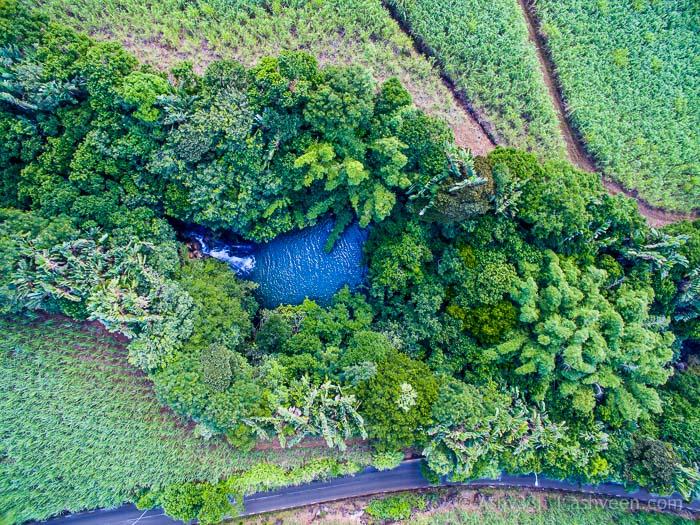 Eau Bleue Mauritius - Waterfall 4 Drone View