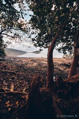 Hiking Le Morne Mountain - Low tide