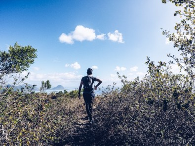 Hiking Tourelle Tamarin Mauritius - Reaching the Top
