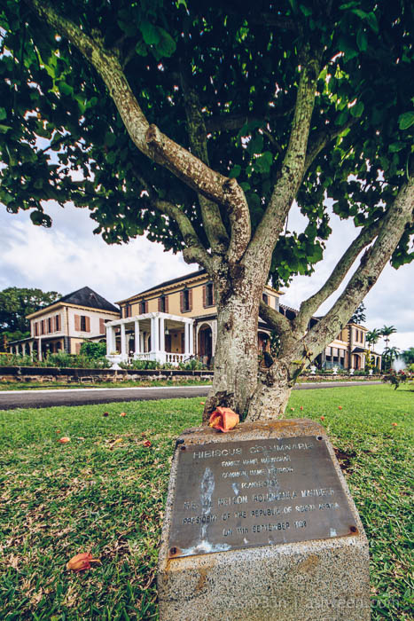 Monuments Day Apr 2017 Mauritius-State House Mandela 1998