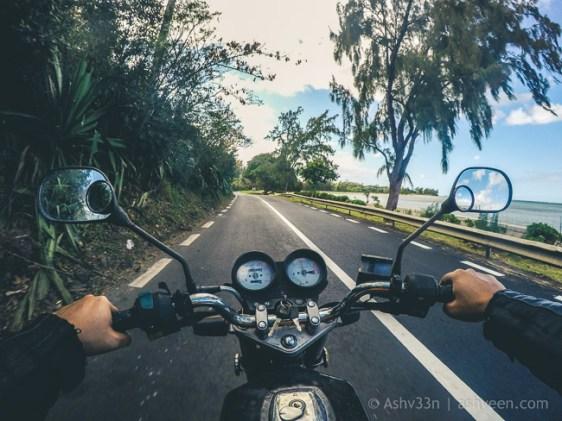 Road Trip - Le Morne Village - Haojue 125