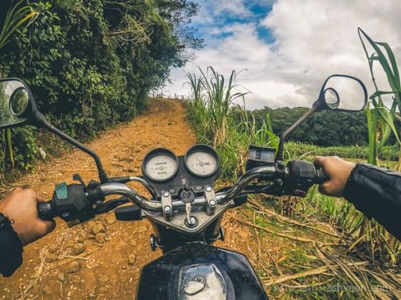 Road Trip Mauritius - Rochester Falls - Haojue 125
