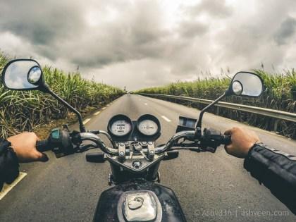 Road Trip Mauritius - La Flora - Haojue 125
