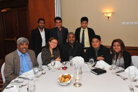 Press Team during Welcome Dinner at Marriot Aurora