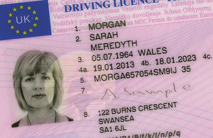 DVLA driving licence