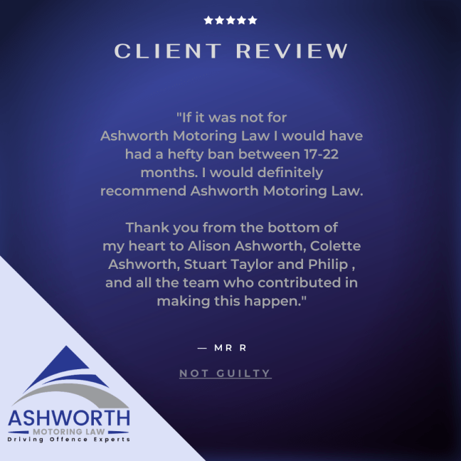Client testimonial about a drink driving case which resulted in a finding of not guilty