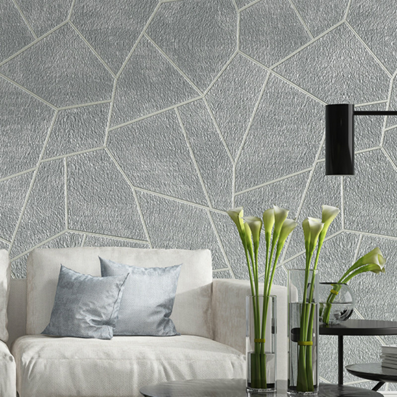 3d Geometric Wallpaper Bedroom Living Room Decor Embossed Textured Wall Cover Ebay