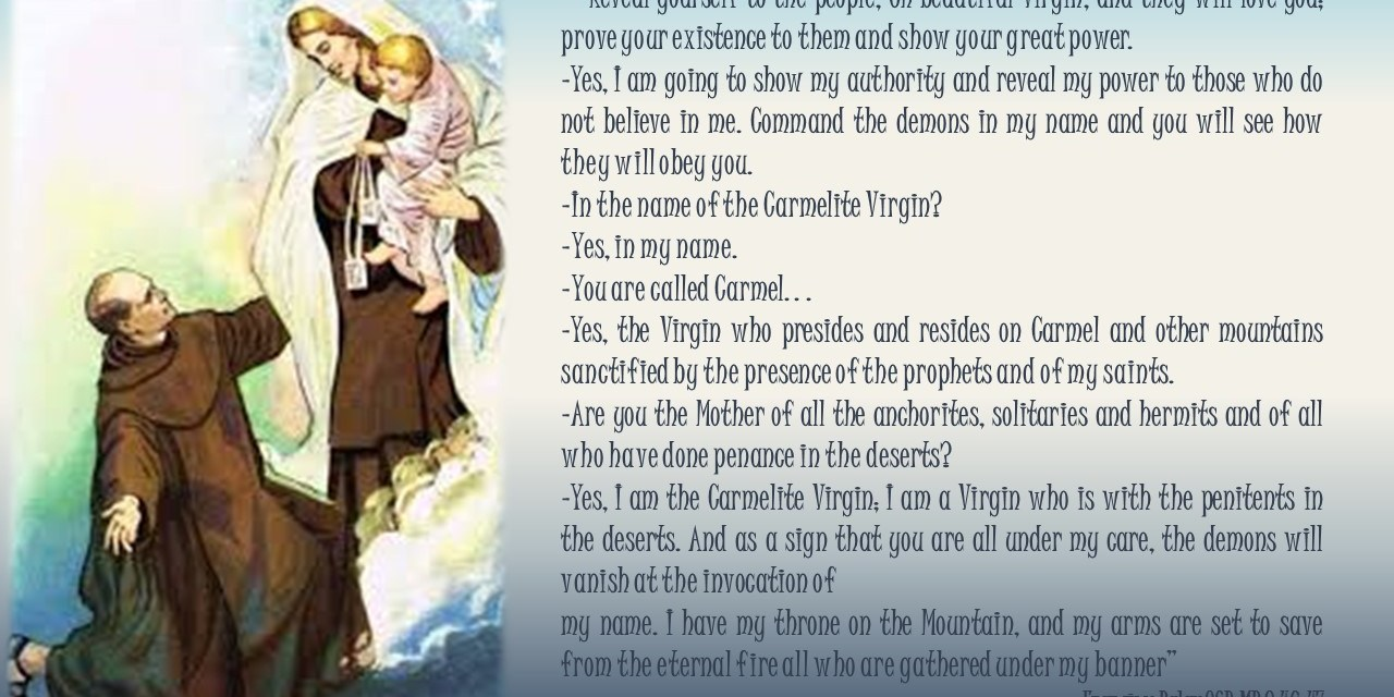 NOVENA OF OUR LADY OF MOUNT CARMEL