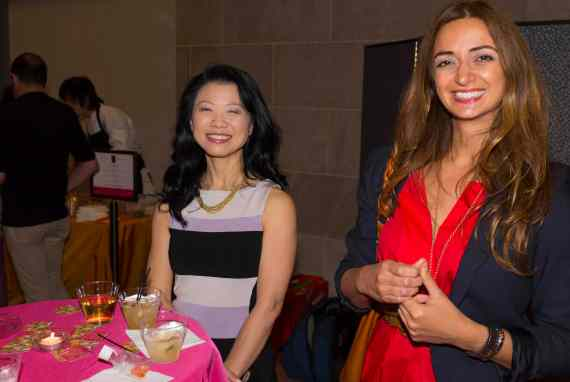 Ceren Ozer, a member of the Silk Road Society at right with a friend