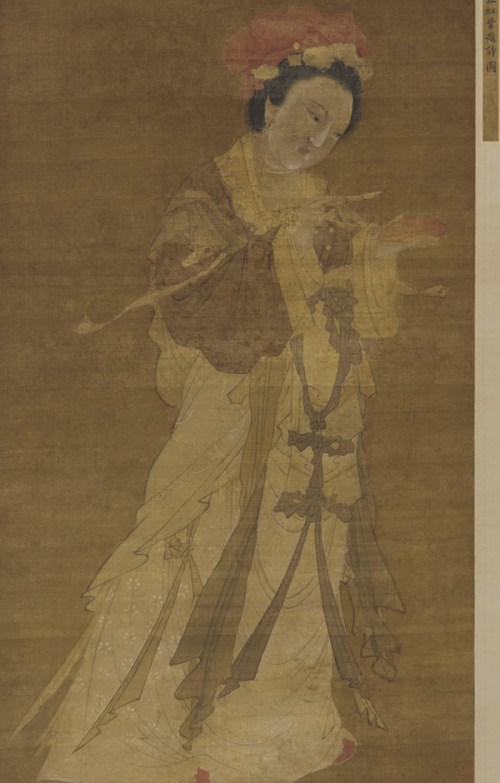 Writing a Poem on a Crimson Leaf by Tang Yin; 16th century; Ink and color on silk, F1917.335; gift of Charles Lang Freer