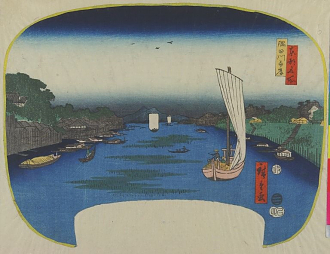 The Banks of the Sumida River, from the series Famous Places in the Eastern Capital; Utagawa Hiroshige; Japan, Edo period, 1857; woodblock print; ink and color on paper; Victoria and Albert Museum, London