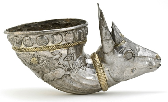 Spouted vessel with gazelle protome; Iran or Afghanistan, Sasanian period, 4th century; silver and gilt; Arthur M. Sackler Gallery, Gift of Arthur M. Sackler, S1987.33