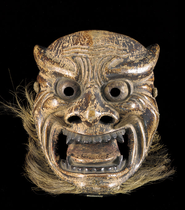 Mask; Japan, Edo period, 1615–1868; wood with paint and hair; Gift of Charles Lang Freer, F1905.314
