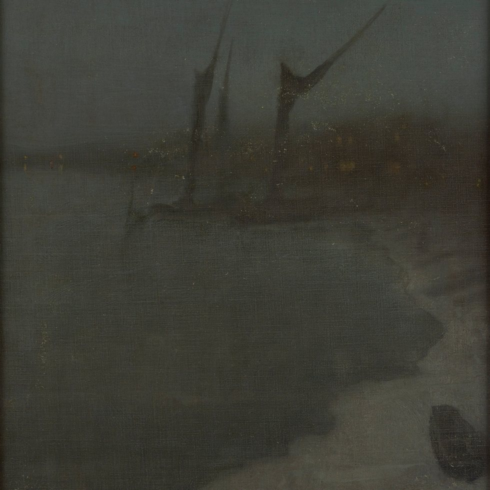 Nocturne: Grey and Silver--Chelsea Embankment, Winter