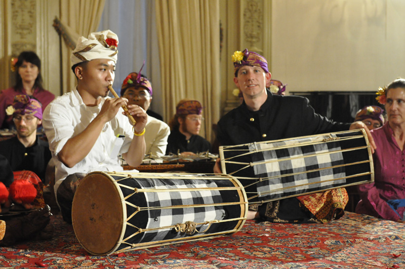 The Richmond-based group Gamelan Raga Kusama, pictured, joins the Momenta Quartet, Indonesian vocalist Ubiet, and soprano Tony Arnold for a Performing Indonesia concert.