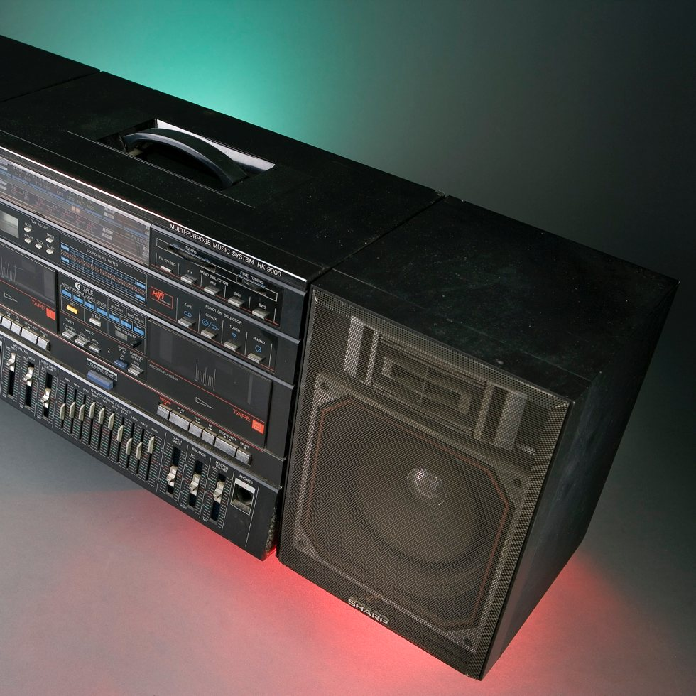 Fab's boombox at the National Museum of American History