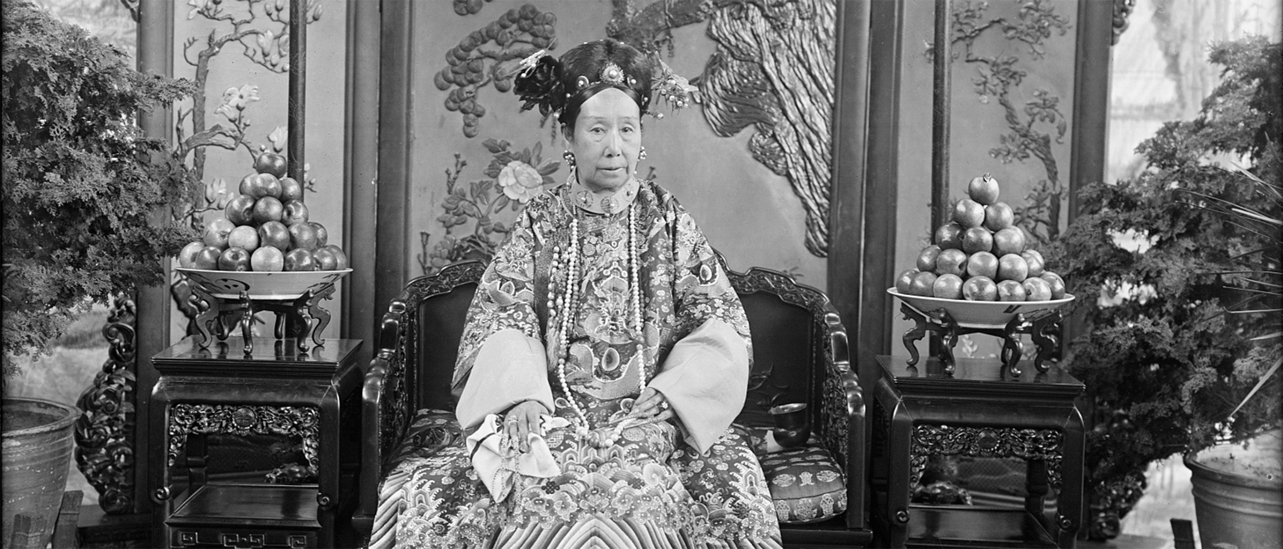 Detail from a photograph of Empress Dowager Cixi, from the archives, FS-FSA_A.13_SC-GR-262