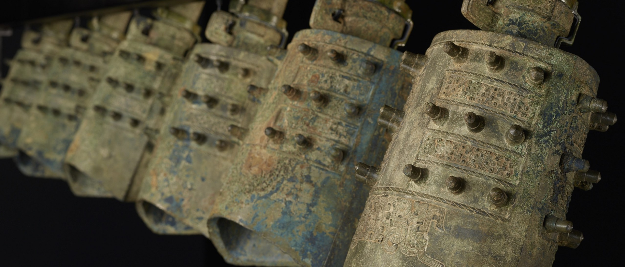 Detail image, ancient Chinese bells from the Resound: Ancient Bells of China exhibition