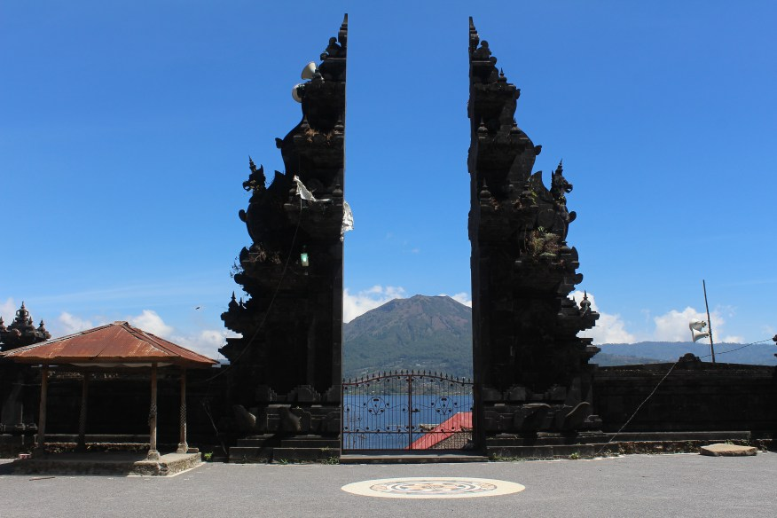 Gunung Batur from Pura Pancer Jagat in Trunyan village