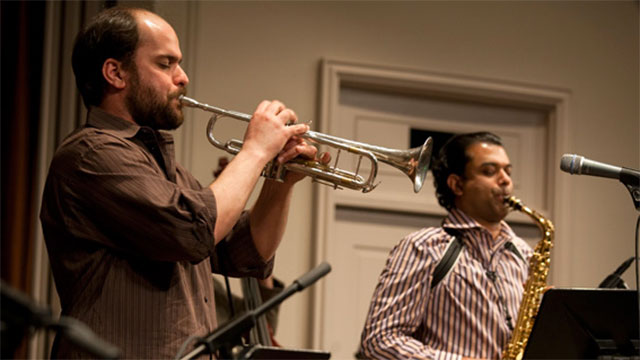 performers at an Iraqi Jazz fusion