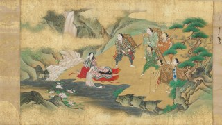 The samurai prepare for their journey to Shuten Dojis hidden castle after they receive the imperial order to destroy the monster and pray to the Shinto gods for assistance.